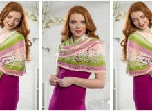 beauteous Chantilly knitted shawl | the knitting space