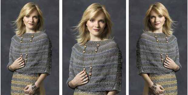 beauteous knitted buttoned wrap | the knitting space