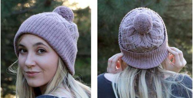 Beautiful Argyle Knitted Hat Free Knitting Pattern