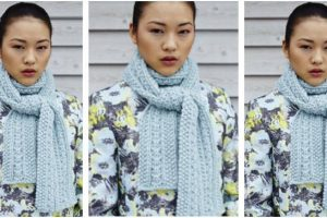 beautiful bliss knitted scarf | the knitting space