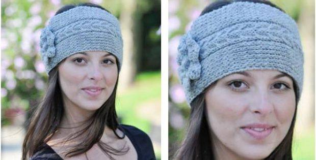 Beautiful Knitted Cable Headband Free Knitting Pattern