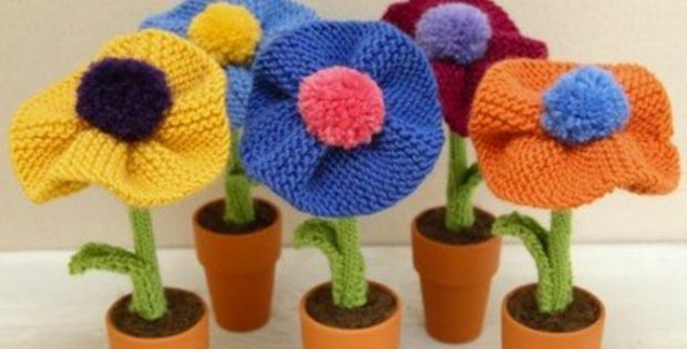 Berkshire knitted blossoms | the knitting space