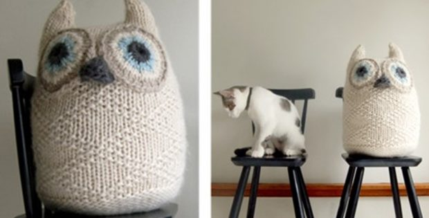 big snowy knitted owl | the knitting space