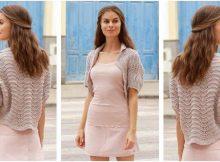 billowing rose knitted bolero | the knitting space