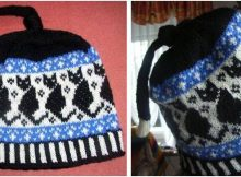 quirky black cats knitted beanie | the knitting space