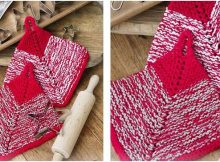blissful bake knitted potholders | the knitting space