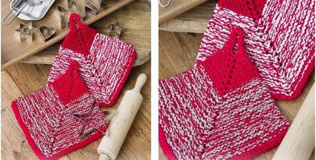 Blissful Bake Knitted Potholders Free Knitting Pattern