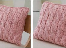 blissful big cables knitted pillow | the knitting space