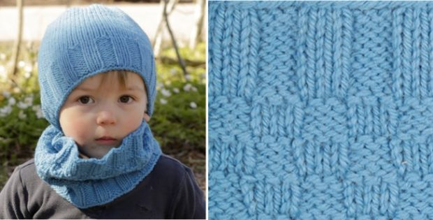 Bluebeard knitted neck warmer | the knitting space