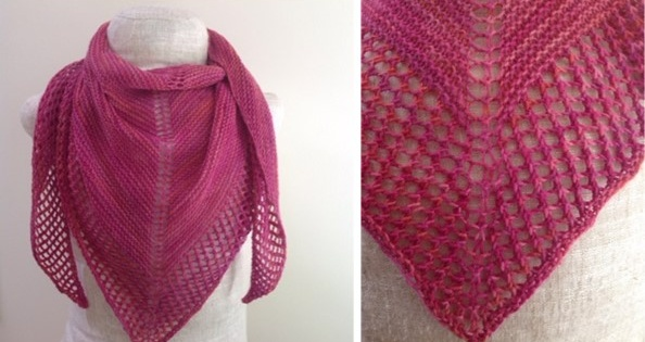 Knit Blush Summer Shawl [FREE Knitting Pattern]