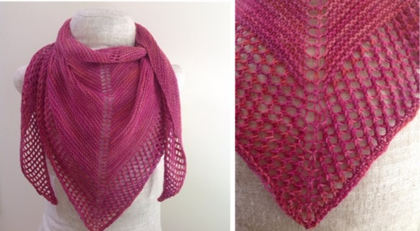 Knitting Summer Scarves : Knit blush summer shawl free knitting pattern