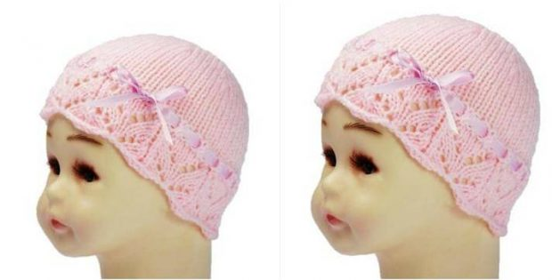 b84ee0daaa80 Blushing Blossom Knitted Baby Hat  FREE Knitting Pattern