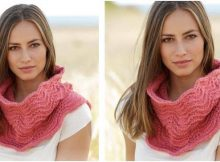 blushing blossom knitted neck warmer | the knitting space