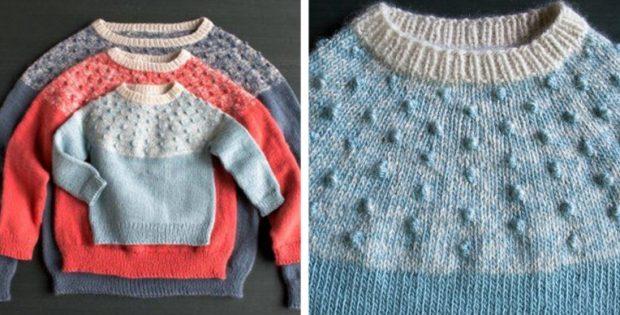 تذوق هذه العكعة بالطبع صياد السمك yoke sweater pattern