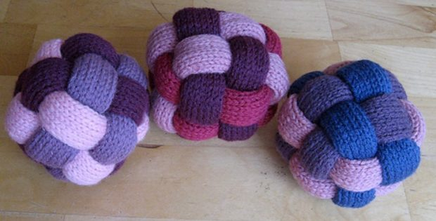 Braided Knitted Balls Free Knitting Pattern Video Tutorial