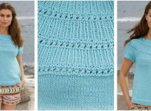breezy Mindy knitted ladies' top | the knitting space