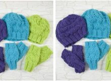 bright chicadee knitted baby set | the knitting space