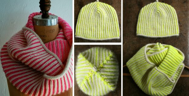 Knitted Brioche Hat And Cowl [FREE Knitting Pattern]