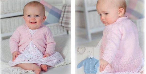 Bubble Baby Knitted Cardigan Free Knitting Pattern