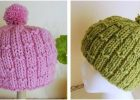 bubbly bamboo knitted hat   the knitting space