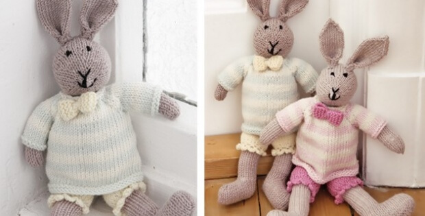 Knit Mr Bunny Rabbit Free Knitting Pattern