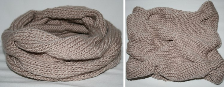 Burberry Inspired Knitted Cowl Free Knitting Pattern