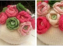 button rose knitted tea cozy | the knitting space