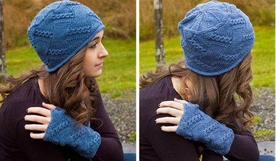 cabled entrelac knitted hat | the knitting space