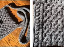 cabled interlace knitted bag | the knitting space