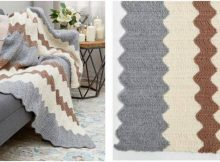 calming colors knitted chevron throw   the knitting space