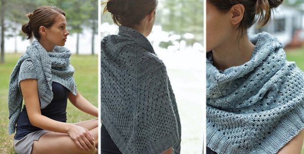 classic campside knitted shawl | the knitting space