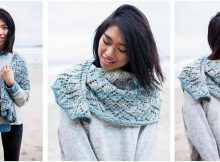 captivating Neottia knitted shawlette | the knitting space