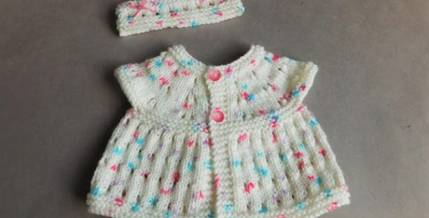 Carla Knitted Baby Top And Headband Free Knitting Pattern