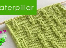 knitted caterpillar stitch | the knitting space