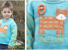 cat's meow knitted pullover | the knitting space