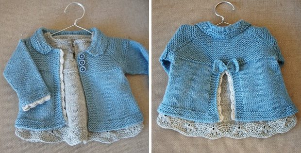 Charlee Knitted Baby Girl Jacket Free Knitting Pattern