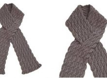 charmed reversible cable knitted scarf | the knitting space