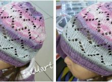 charming crocus knitted lace hat | the knitting space