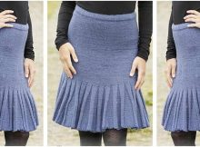 charming flounce edged knitted skirt | the knitting space