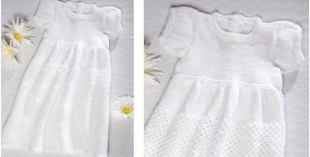 Charming Knit Christening Gown Free Knitting Pattern