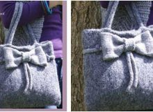 charming knitted felt bag | the knitting space