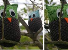 charming knitted owl brothers | the knitting space