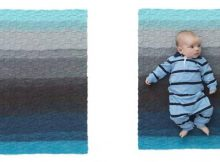 checkered knit baby blanket | the knitting space