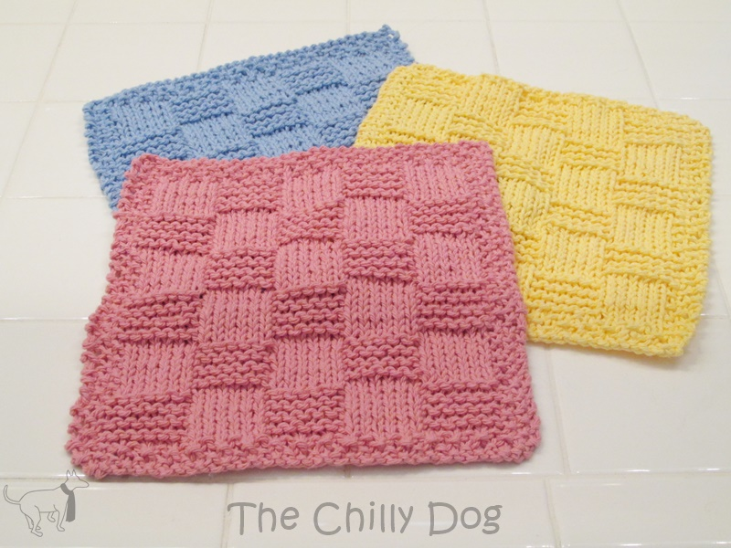 Easy Knitted Checkered Washcloths [FREE Pattern]