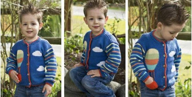cheerful children's knitted cardigan | the knitting space