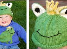 cheery frog knit sweater & hat set | the knitting space