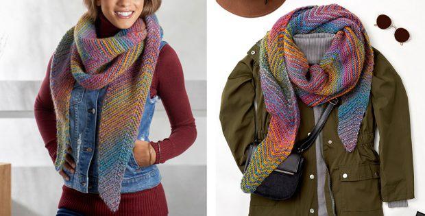 Chic Cityscape Knitted Shawl Free Knitting Pattern
