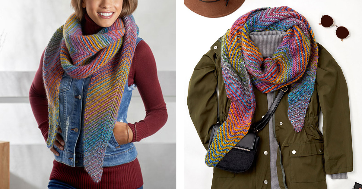 Chic Cityscape Knitted Shawl