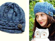 chic Funiculaire knitted hat | the knitting space