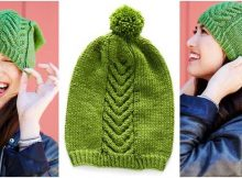 chic knitted cable twist hat | the knitting space